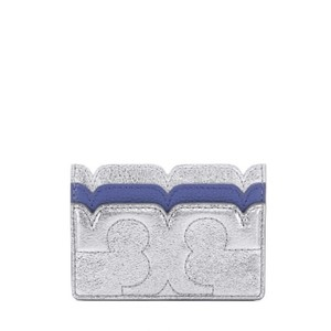 Tory Burch ory Burch Scallop-T Metallic Card Case New With Tags