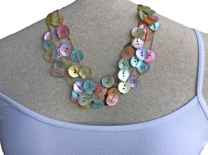 Anthropologie Vintage Button Necklace