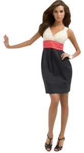 BCBGMAXAZRIA Color-blocking Sweetheart Dress