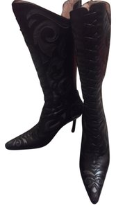 Gianni Milanesi Leather Black Boots