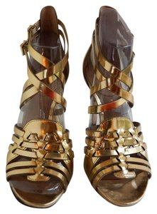 Vince Camuto Heel Gold Sandals