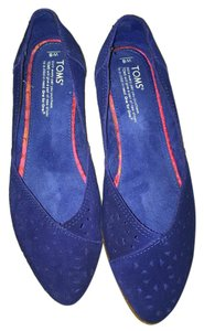 TOMS Casual Pointed Toe Royal Blue Flats