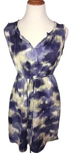 Simply Vera Vera Wang short dress purple multi Mini Blue Small Shirt on Tradesy