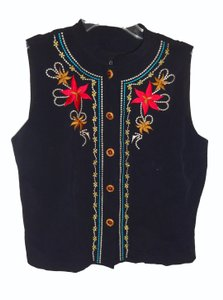 Carole Little Embroidered Front Vest