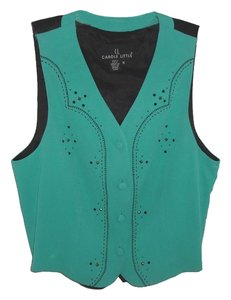Carole Little Beaded Front Vest