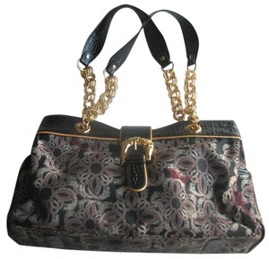 Sharif Signature Design Logo Nwot Satchel in Black Multi