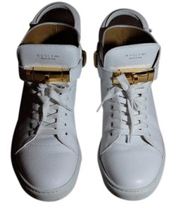 Buscemi Made In Italy Calf Leather White Athletic