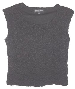 Jones New York Lace Stretch Top BLACK