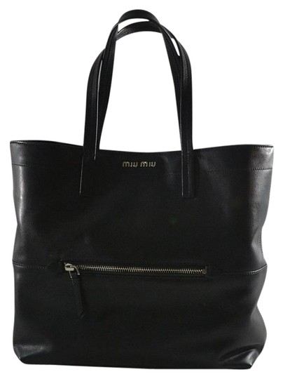 Miu Miu Prada Leather Tote in Black