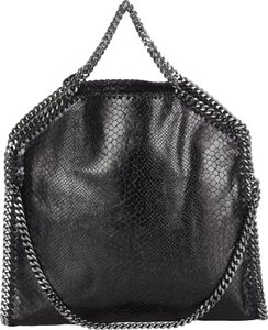 Stella McCartney New Falabella Snake Python Tote in Black
