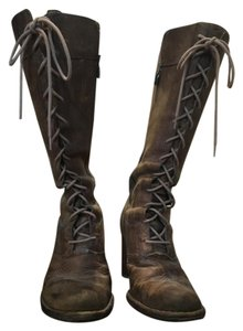 Frye Vintage Tan Leather Brown Boots