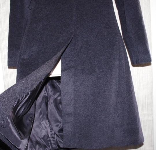 Calvin Klein Choarcal Angora Wool Vent Women Size:8 Trench Coat 70%OFF