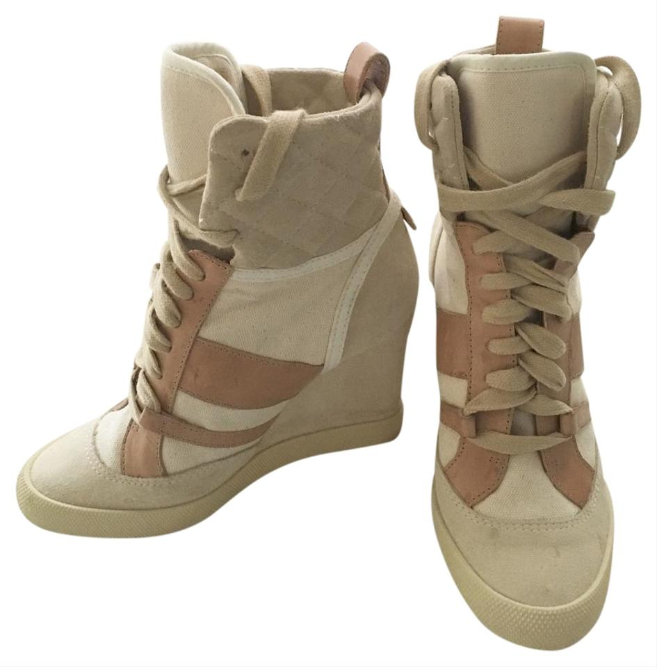 13befe5c67e Chloé Suede Leather Lace Up Sneaker Wedges. Size  US 5.5 Regular ...
