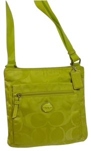 Coach Green Messenger Bag