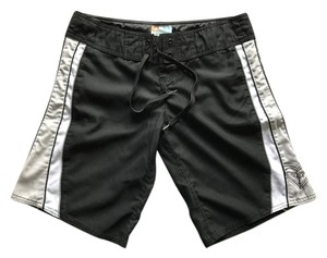 Roxy Long Ocean Beach Surf Board Shorts Black