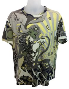 Just Cavalli Just Cavalli Printed Cotton Blend Men's Tee Shirt XXXL