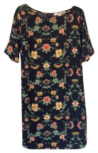 Forever 21 short dress Black w/multicolored floral design on Tradesy