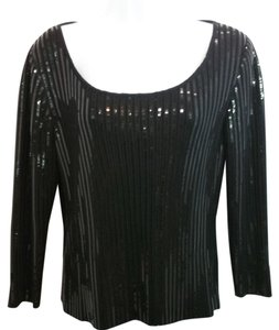 St. John Black Evening Knit Top