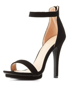 Wild Diva Classic High Suede Simple Black Pumps