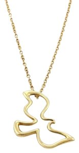 Tiffany & Co. Tiffany Co. Picasso 18k Yellow Gold Dove Pendant Necklace