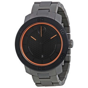 Movado $895 NWT Men's Bold Matte Black Dial Titanium Watch 3600098