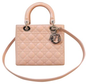 Dior Vernis Medium Lady Satchel in pink