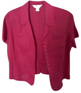 Casual Corner Button Down Shirt Hot Pink