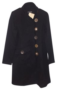neon buddha Warm Comfortable Accent Buttons Trench Coat
