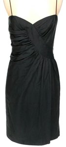 Foley + Corinna Silk Ruched Sleeveless Shift Dress