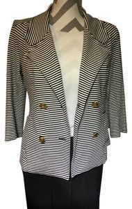 CAbi Stripes Polo Navy And White Blazer