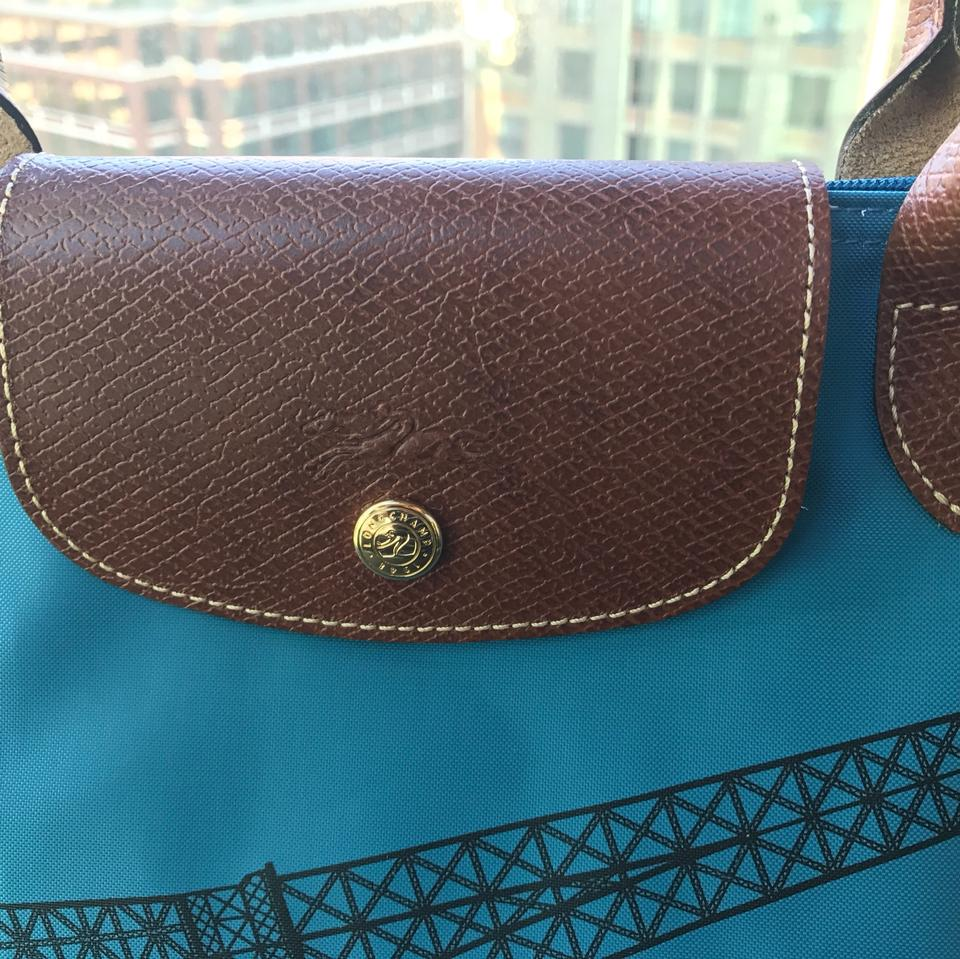 39aacc5a695d Longchamp Limited Edition Eiffel Tower Tote in Bleu Glacier. 12345678910