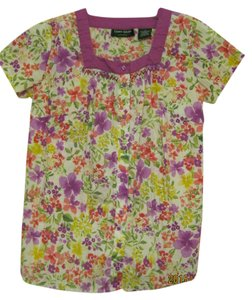 Lemon Grass Studio Spring Colorful Comfortable Top Multi-floral purple, yellow, pink, green