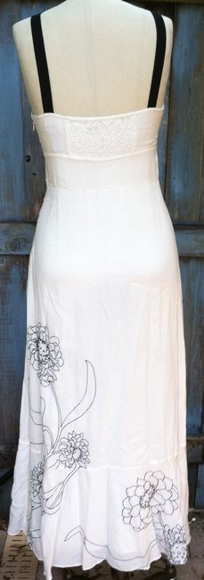 cream w/ blk trim Maxi Dress by Anthropologie