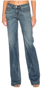 Rag & Bone Trouser/Wide Leg Jeans-Medium Wash