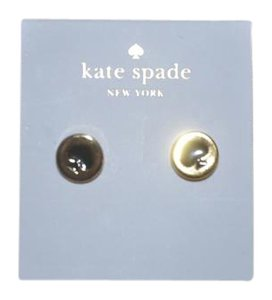 Kate Spade NWT KATE SPADE SPOT THE SPADE STUDS EARRINGS GOLD BLACK W BAG
