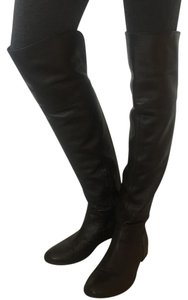 Italian Over-the-knee Leather Black Boots