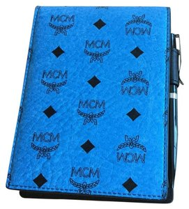 MCM MCM VISETOS LEATHER NOTE PAD with pen and DUSTBAG and MCM BOX