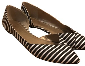 BCBGeneration Black/White Stripes Flats