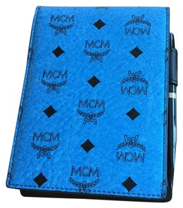 MCM MCM NOTEPAD LEATHER BOND VISETOS PATTERN WITH PEN AND DUSTBAG