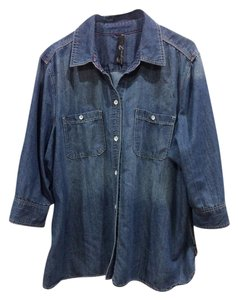 Seven7 Top denim blue