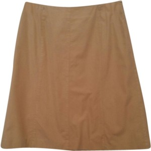 Liz Claiborne Cotton Skirt Khaki