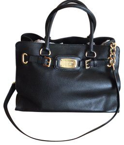 Michael Kors Satchel in Black Woth Gold Hardware