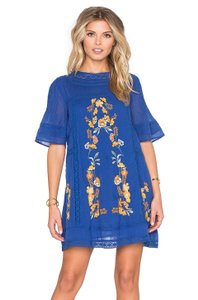 Free People short dress Blue Fall on Tradesy