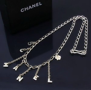 Chanel Authentic Chanel Sterling Silver Letter Charm Necklace