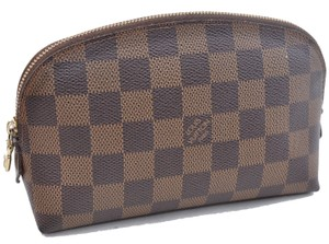 Louis Vuitton Cosmetic Pouch Damier Leather Brown Spain clutch bag N47516 wallet