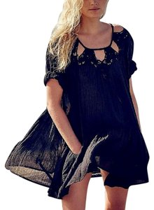 Free People Cutout Swing Bohemian Festival Coachella Blouse Cutwork Eyelet Fp Tunic