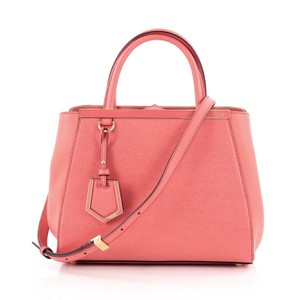 Fendi Leather Coral Tote