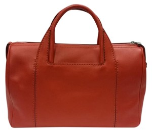 Salvatore Ferragamo Leather Satchel in Orange