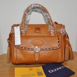 Dooney & Bourke Florentine Leather Satchel in Natural