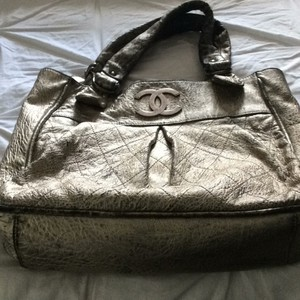 Chanel Tote in Antiqued Metalic Silver/gold